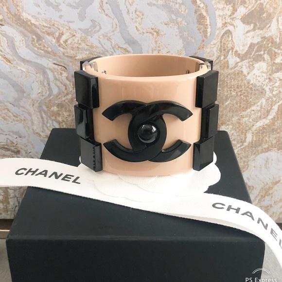 c3236bb420f1 CHANEL Jewelry | Limited Edition Tan Black Boy Cuff Bracelet | Poshmark